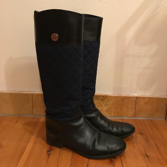 66556a27489 Authentic Tory Burch Rosalie Quilted Riding Boots